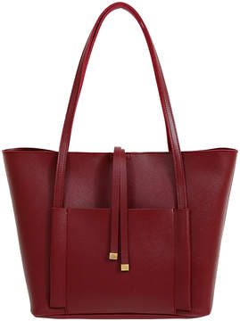 Mellow World Burgundy Tory Tote & Pouch Set