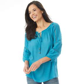 Apt. 9 Women's Crochet Peasant Top