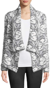 Joan Vass Open Front Cozy-Knit Cardigan