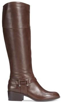 Alfani Womens Biliee Wide Calf Closed Toe Knee High Fashion Boots.