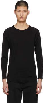 SASQUATCHfabrix. Black Rib Stitch Sweater