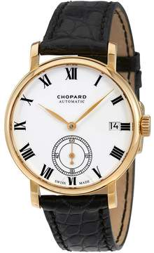 Chopard Classic Manufacture White Dial 18K Yellow Gold Automatic Men's Watch