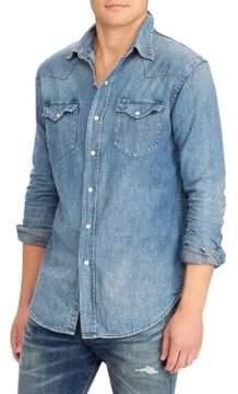 Polo Ralph Lauren Denim Western Cotton Button-Down Shirt
