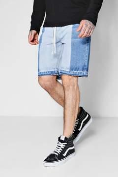 boohoo Half Bleached Bermuda Denim Shorts