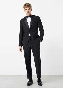 Mango Outlet Peak lapel tuxedo blazer