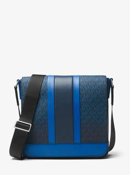 Michael Kors Odin Medium Logo Stripe Messenger
