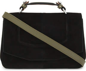 Maje Mini suede satchel bag