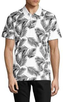 AG Adriano Goldschmied Printed Short-Sleeve Polo
