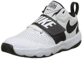 Nike 881942-100: Boy's Team Hustle D 8 Kid White Black Basketball Shoes (12 M US Little Kid)