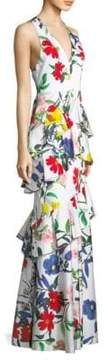 Alice + Olivia Gowns Flossie Ruffle Tiered Gown