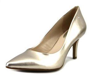Alfani Jeules Women W Pointed Toe Suede Gold Heels.