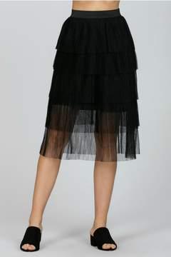 Ark & Co Mesh Pleated Skirt