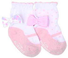 Robeez Girls Take A Bow Infant & Toddler Socks - 2 Pack
