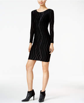 Bar III Velvet-Burnout Bodycon Dress, Created for Macy's