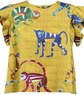 Stella Jean Monkey Printed Top