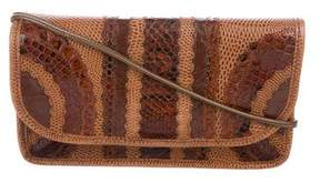 Carlos Falchi Snakeskin-Trimmed Shoulder Bag