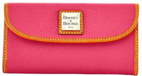 Dooney & Bourke Pebble Grain Continental Clutch Wallet - HOT PINK - STYLE