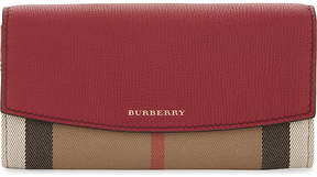 Burberry Porter House check leather wallet - RUSSET RED - STYLE