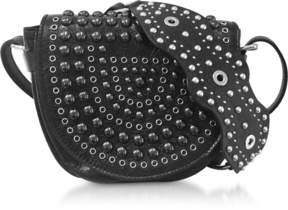 RED Valentino Black Studded Leather Crossbody Bag