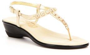 Onex Sprinkles Rhinestone-Embellished Suede Thong Sandals
