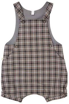 Marie Chantal Baby Boy Tartan Checkered Romper - Grey/Camel