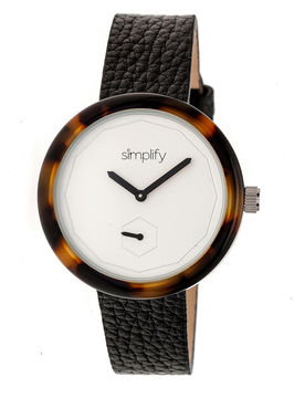 Simplify The 3700 Unisex Black Strap Watch-Sim3702
