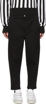 Ami Alexandre Mattiussi Black Carrot Fit Worker Trousers