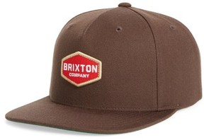 Brixton Men's Brighton Obtuse Snapback Baseball Cap - Brown