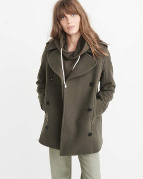 Abercrombie & Fitch Wool-Blend Peacoat