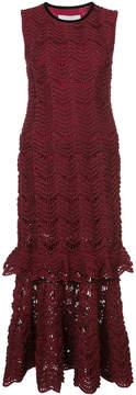 Carolina Herrera trumpet skirt lace dress