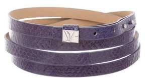 Diane von Furstenberg Embossed Wrap Belt w/ Tags