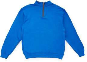 Fruit of the Loom Royal Blue & Charcoal Quarter-Zip Pullover