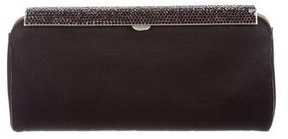 Versace Satin Embellished Clutch