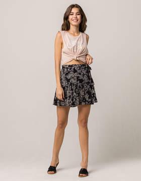 Amuse Society Steal My Heart Wrap Skirt