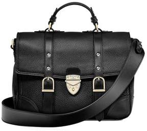 Aspinal of London Small City Mollie Satchel In Black Pebble