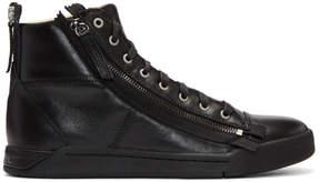 Diesel Black S-Diamzip High-Top Sneakers