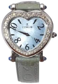 Corum Heart Beat 24.183.47 Stainless Steel Diamond Bezel 30mm Womens Watch