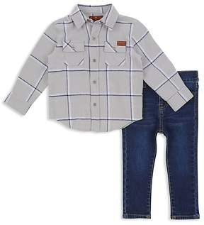 7 For All Mankind Boys' Button-Down Shirt & Jeans Set - Baby