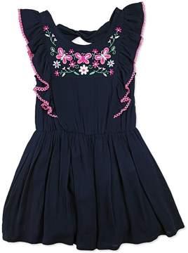 Nannette Girls 4-6x Nanette Embroidered Woven Dress