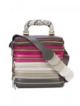 Anya Hindmarch SIX ZIP STACK TOP HANDLE BAG
