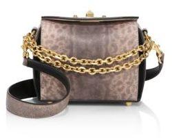 Alexander McQueen Box Bag 16 Karung Leather Satchel