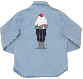 Stella McCartney Ice Cream Patches Cotton Chambray Shirt