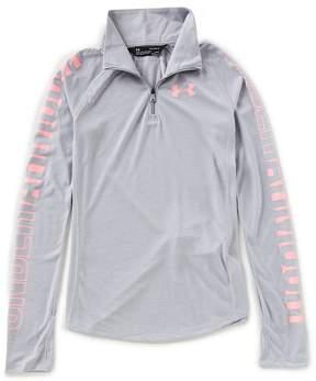 Under Armour Big Girls 7-16 Threadborne 1/4-Zip Shirt