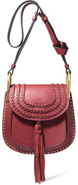 Chloé - Hudson Small Whipstitched Leather Shoulder Bag - Claret