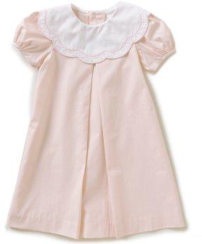 Edgehill Collection Little Girls 2T-4T Scalloped-Collar Dress