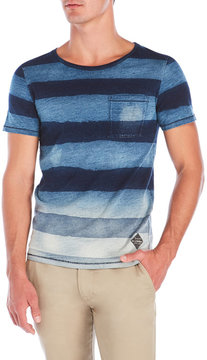 Cult of Individuality Blue Stripe Patch Pocket Tee