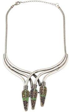 Dannijo Alma Oxidized Clay Collar Necklace