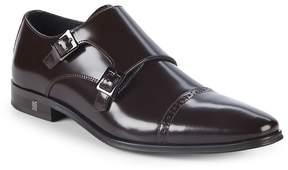Versace Men's Patent Leather Monk Strap Shoes