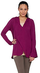 Cuddl Duds As Is Ultra Soft Comfort French Terry Hoodie Wrap