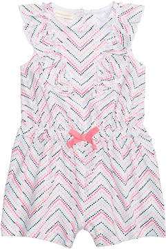 First Impressions Chevron-Stripe Cotton Romper, Baby Girls, Created for Macy's